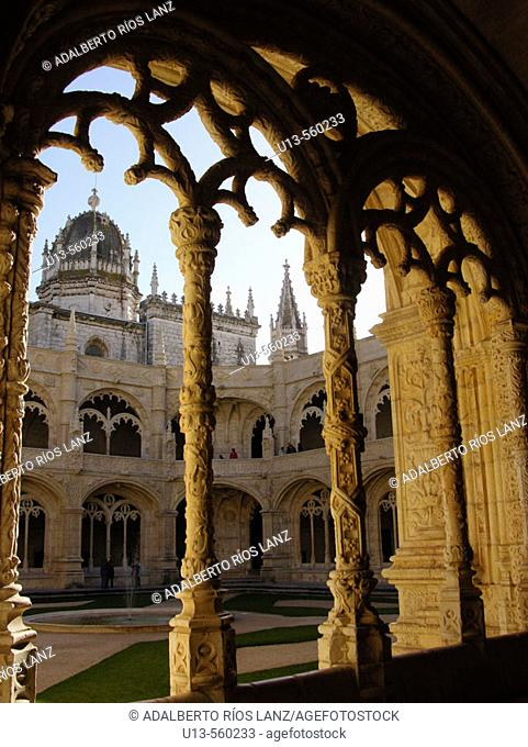 Cloister of Monastery of the Hieronymites. Belem. Lisbon. Portugal