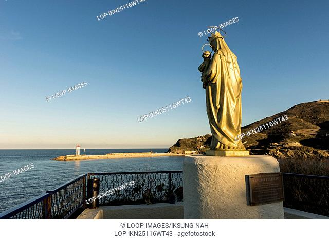 Virgin Mary and Child Jesus Christ Statue in Port Vendres in France