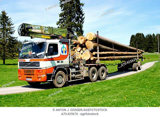 Log transport, Switzerland