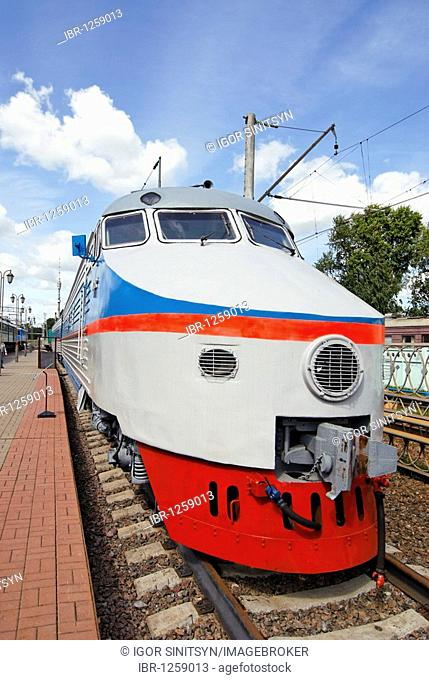 Russian high speed electric train ER200, built in 1989