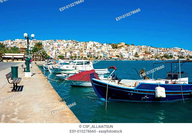 Greek fishing boats in Sitia