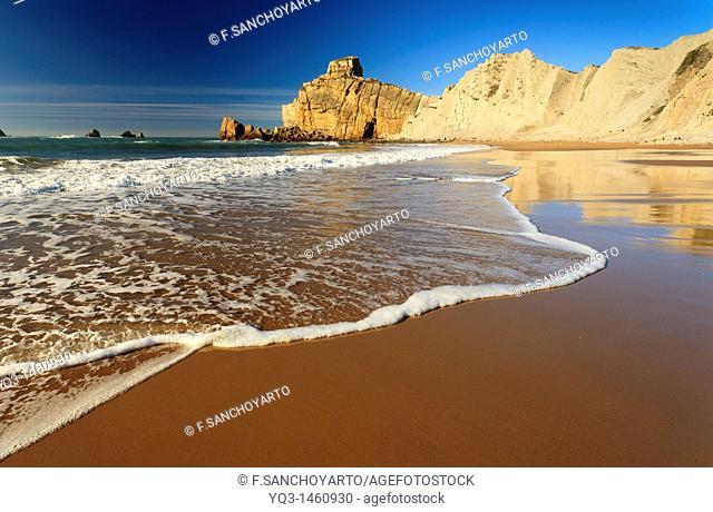 Portio beach, Costa Quebrada, Piélagos, Cantabria, Spain
