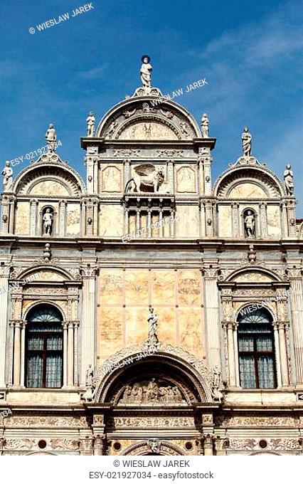 Venice -the Scuola Grande di San Marco, nearby the basilica of santi Giovanni e Paolo