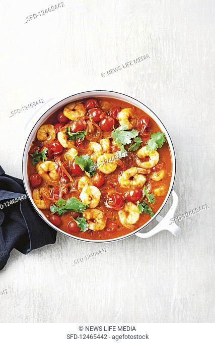 Quick prawn tagine with preserved lemon couscous