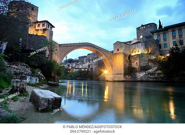 "Old bridge """"Stari Most"""" of Mostar, Bosnia and Herzegovina"