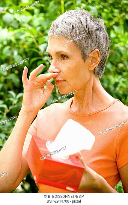 ELDERLY PERSON WITH RHINITIS Model