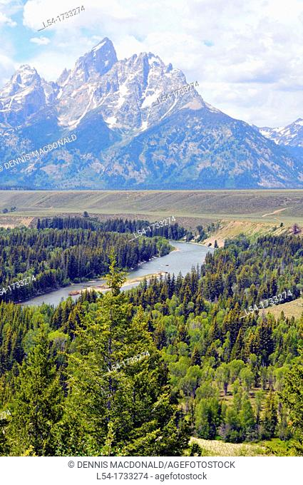 Snake River Grand Teton National Park Wyoming WY United States