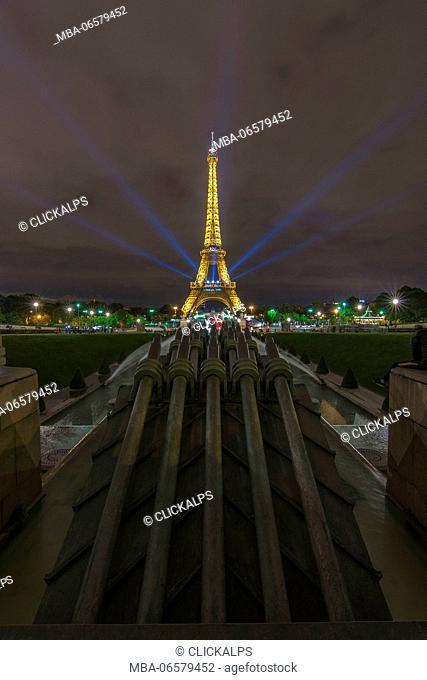 Europe, France, tour Eiffel in Paris