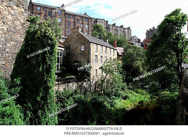 Water of Leith at Dean Village, Edinburgh, Scotland, United Kingdom / Water of Leith im Dean Village, Edinburgh, Schottland, Großbritannien