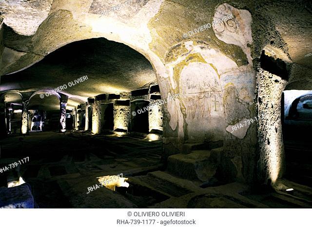 The catacombs of San Gennaro St. Januarius, Naples, Campania, Italy, Europe