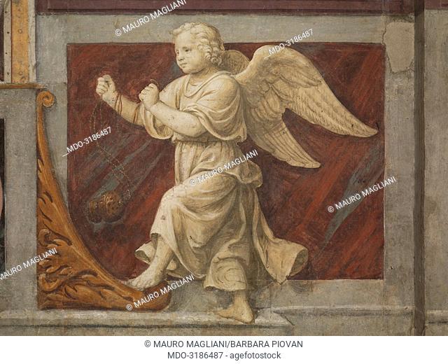 Angel with thurible (Angelo con turibolo), by Bernardino Luini, 1525-1530, 16th Century, fresco