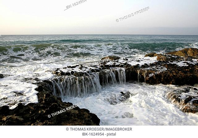 Mediterranean coast in Sitges, Parc National del Garraf, Costa Dorado, Spain, Europe