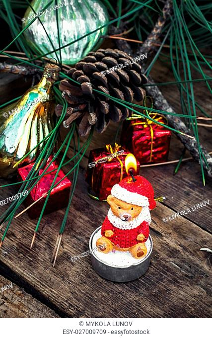 Retro Christmas decorations and toys for the Christmas season