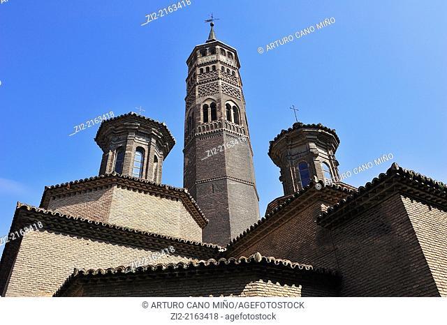 Saint Paul mudejar belfry, XIII-XIV centuries, Zaragoza, Spain