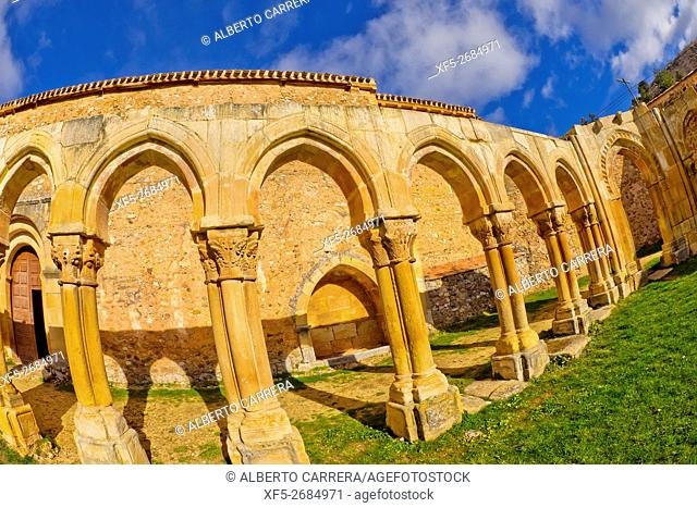 Monastery of San Juan de Duero, Cloister, 12th century, Romanesque Style, National Monument, Spanish Property of Cultural Interest, Soria, Castilla y León