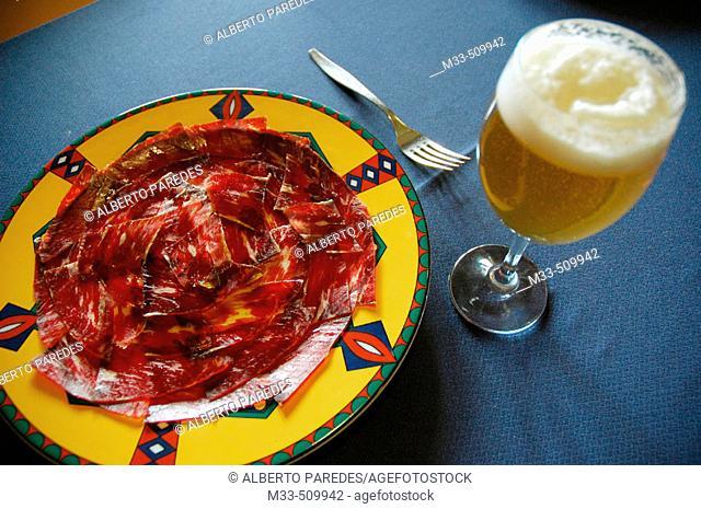 Dried meal. Taberna La Piconera. Castilla-León, León, Spain