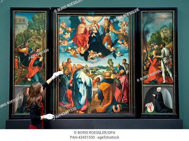 "The """"Heller Altar"""" by Duerer at the Staedel Museum in Frankfurt Main, Germany, 17 October 2013. The exhibition 'Duerer' about the German Renaissance artist is..."