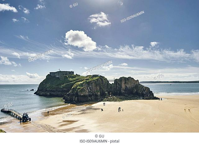 St Catherine's island, Tenby, Pembrokeshire, Wales