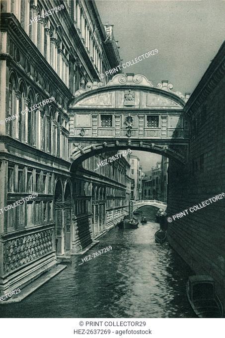 Bridge of Sighs, Venice, Italy, 1927. Artist: Eugen Poppel