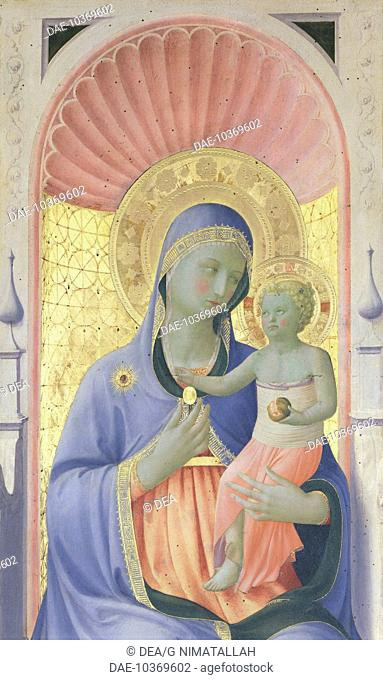 Annalena Altarpiece, ca 1430, by Giovanni da Fiesole known as Fra Angelico (1400-ca 1455), tempera on wood, 108x202 cm. Detail