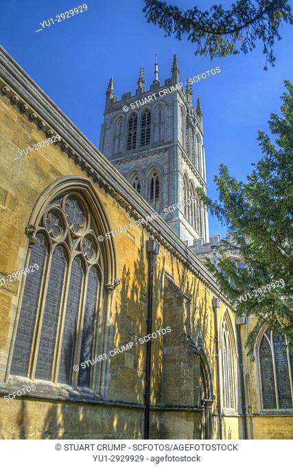 HDR image of St Marys Church in Melton Mowbray Leicestershire UK