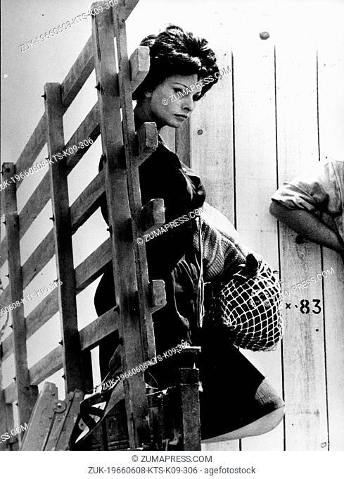 June 8, 1966 - Rome, Italy - Italian actress SOPHIA LOREN acting in a scene from the film, 'Judith'. (Credit Image: © Keystone Press Agency/Keystone USA via...