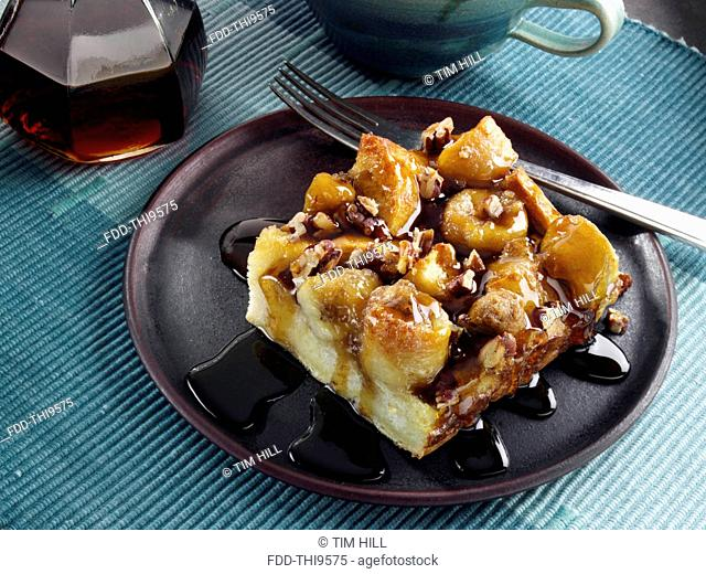 Banana Foster French toast bake