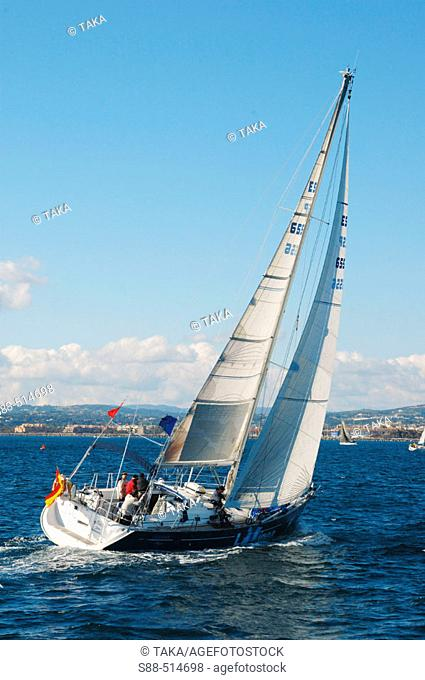 Boat race from Sotogrande to Martinica island in the Caribbean. Cadiz province. Andalucia. Spain