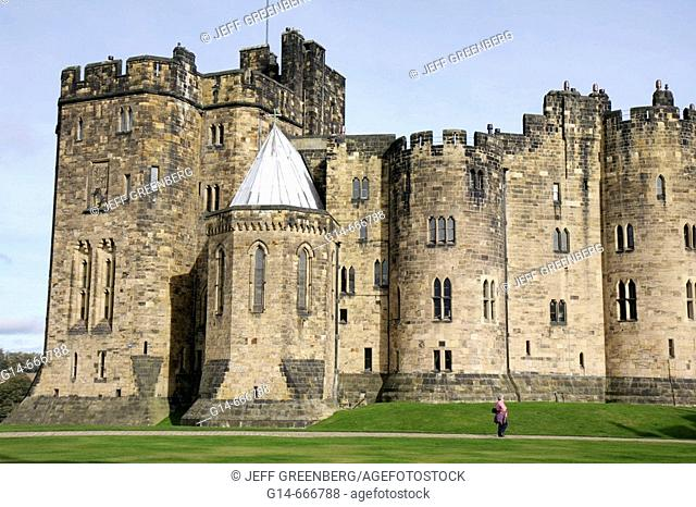 UK, England, Northumberland, Alnwick, Alnwick Castle, Harry Potter movie site