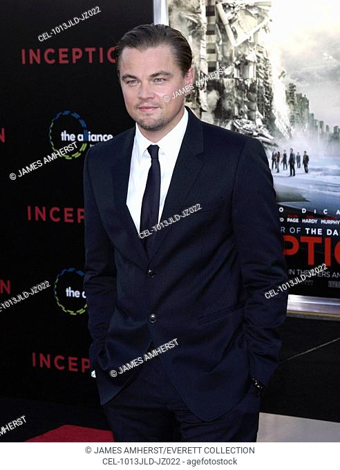 Leonardo DiCaprio at arrivals for INCEPTION Premiere, Grauman's Chinese Theatre, Los Angeles, CA July 13, 2010. Photo By: James Amherst/Everett Collection