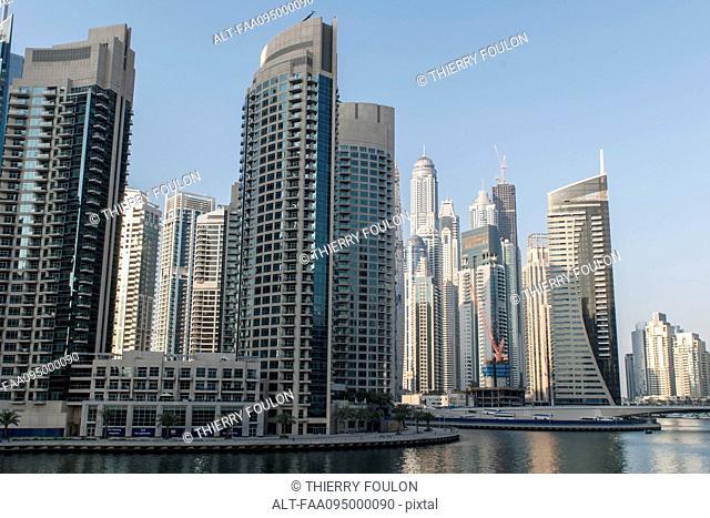 Modern skyscrapers, Dubai, United Arab Emirates