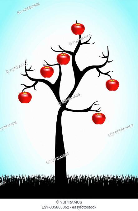 Apple and tree