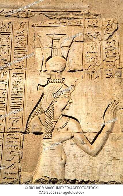 Bas-reliefs on Walls, Temple of Haroeris and Sobeck, Kom Ombo, Egypt