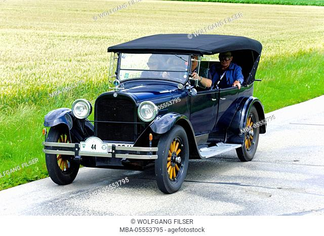 Old-timer rally 'Herkomer contention' in Landsberg in Lech for at least 80 year-old cars, here close Dodge Tourer, year of manufacture in 1924