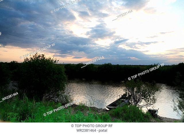 Heilongjiang Fuyuan County Wusuli River the scenery