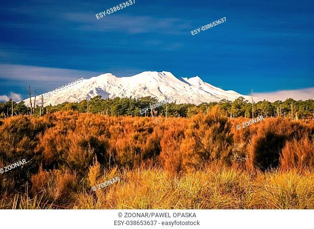 Mount Ruapehu volcano