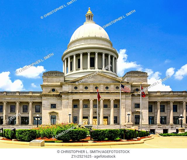 The Arkinsas State Capitol building located in Little Rock. Built over 16 years from 1899-1915