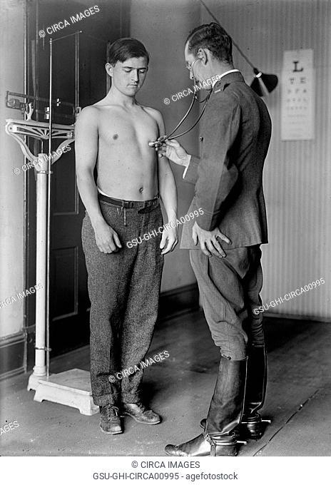 U.S. Army Physical Examination, circa 1917