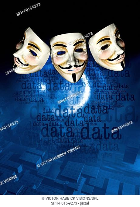 Internet activist masks, illustration