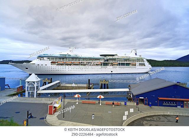 Cruise ship 'Rhapsody of the Seas' at the cruise ship terminal, Prince Rupert, BC