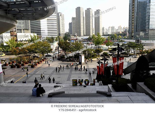 Yongsan train station and electronics shopping mall,Seoul,South Korea