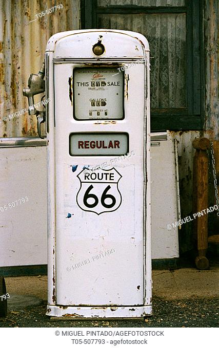 Gas station on Route 66. Mohave desert, California, USA