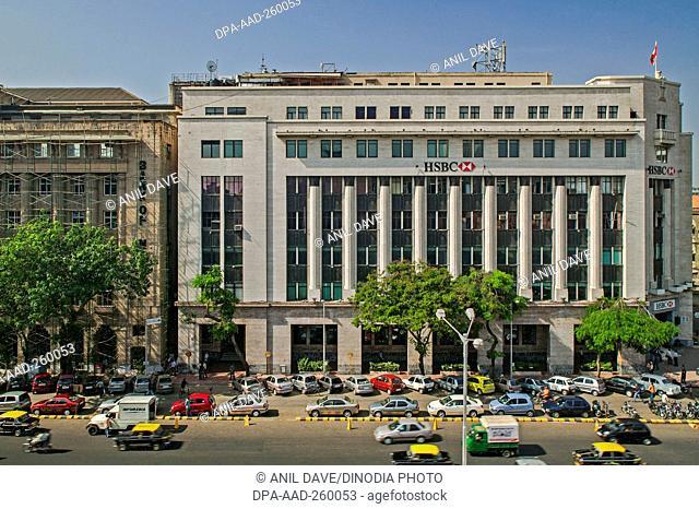 HSBC bank building hong kong, Mumbai, Maharashtra, India, Asia