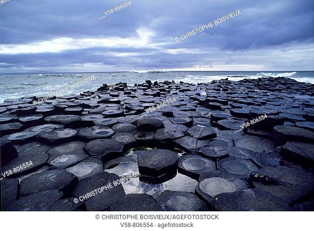 Legend has it that the Irish giant Fionn mac Cumhaill Finn McCool built the causeway to walk to Scotland to fight his Scottish counterpart Benandonner