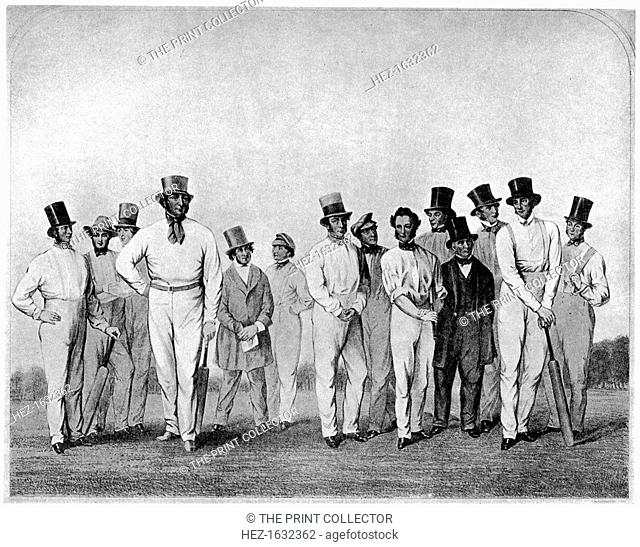 The English cricket eleven of 1846 (1912). From Imperial Cricket, edited by P F Warner and published by The London and Counties Press Association Ltd (London