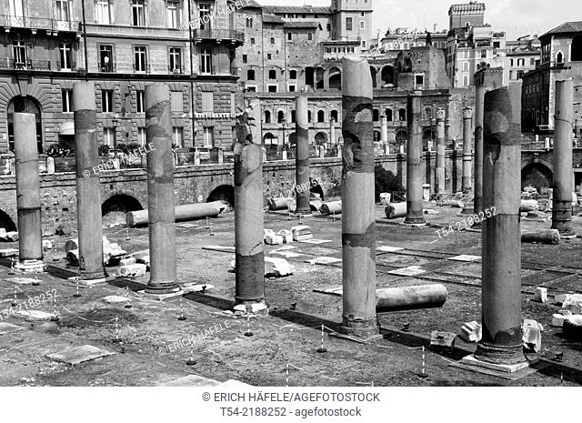 The Forum of Trajan in the Roman Forum in Rome