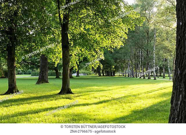 Botanica Park Recreational Area in Spring, Bad Schallerbach, Austria