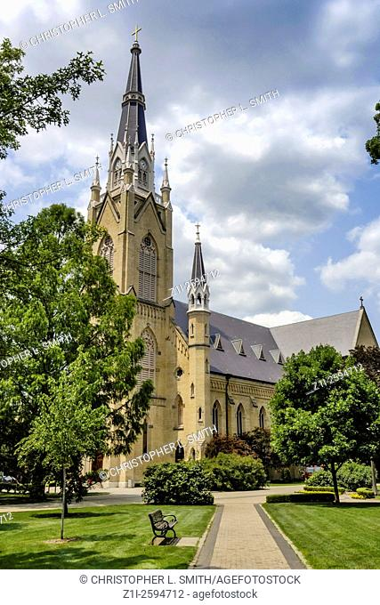 The Bascillica of the Sacred Heart on the campus of Notre dame University in Indiana