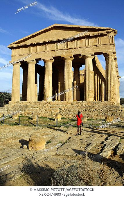 The Temple of Concordia at Valley of the Temples, Agrigento, Sicily, Italy