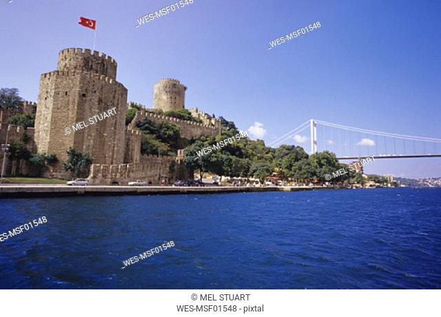 Istanbul,Rumeli Hisari Castle and Bosporus Bridge, Turkey